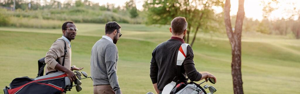 golfers using club caddie and club core