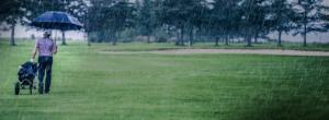 Golfer having a bad day